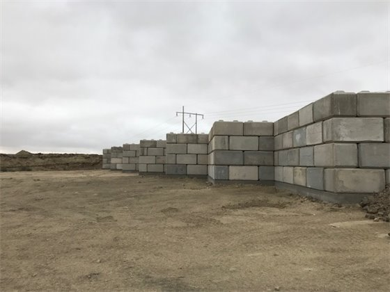 Image of waste transfer station under construction
