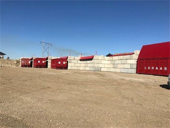 Image of waste transfer station bins