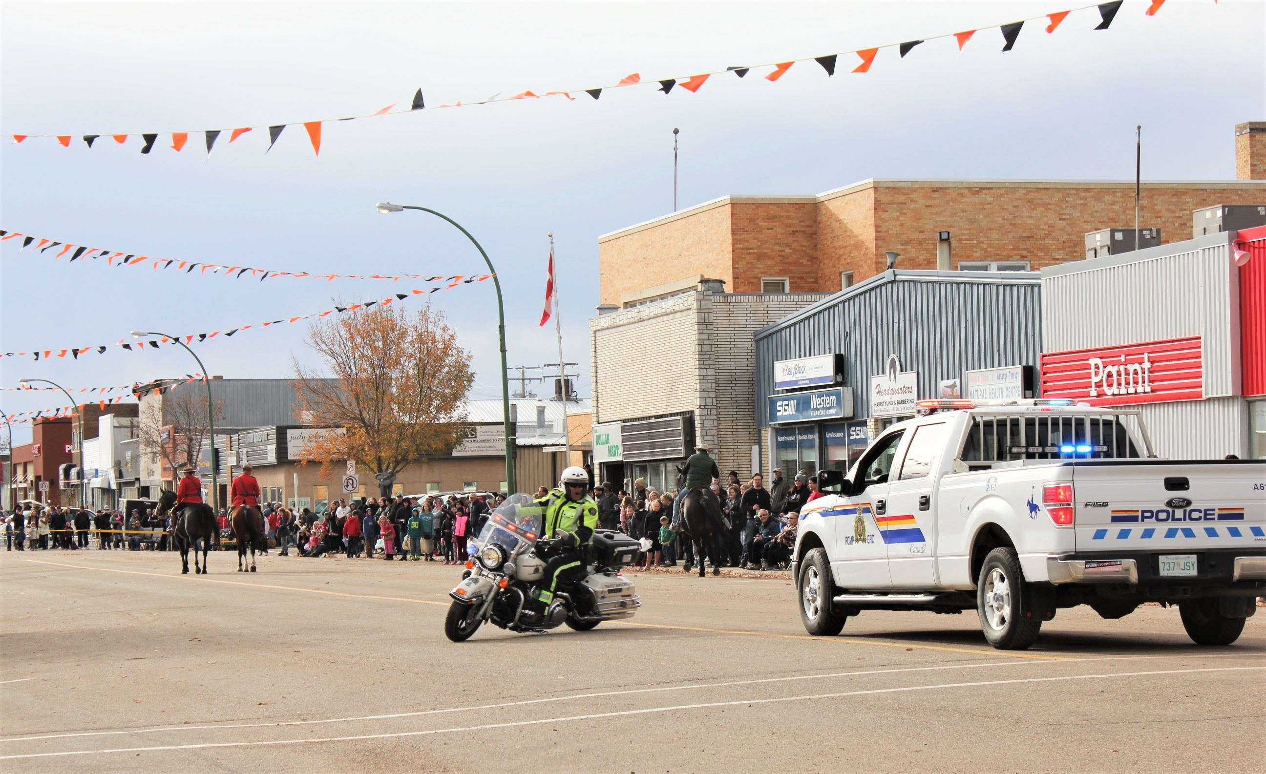 Image of RCMP Truck at Harvest Festival