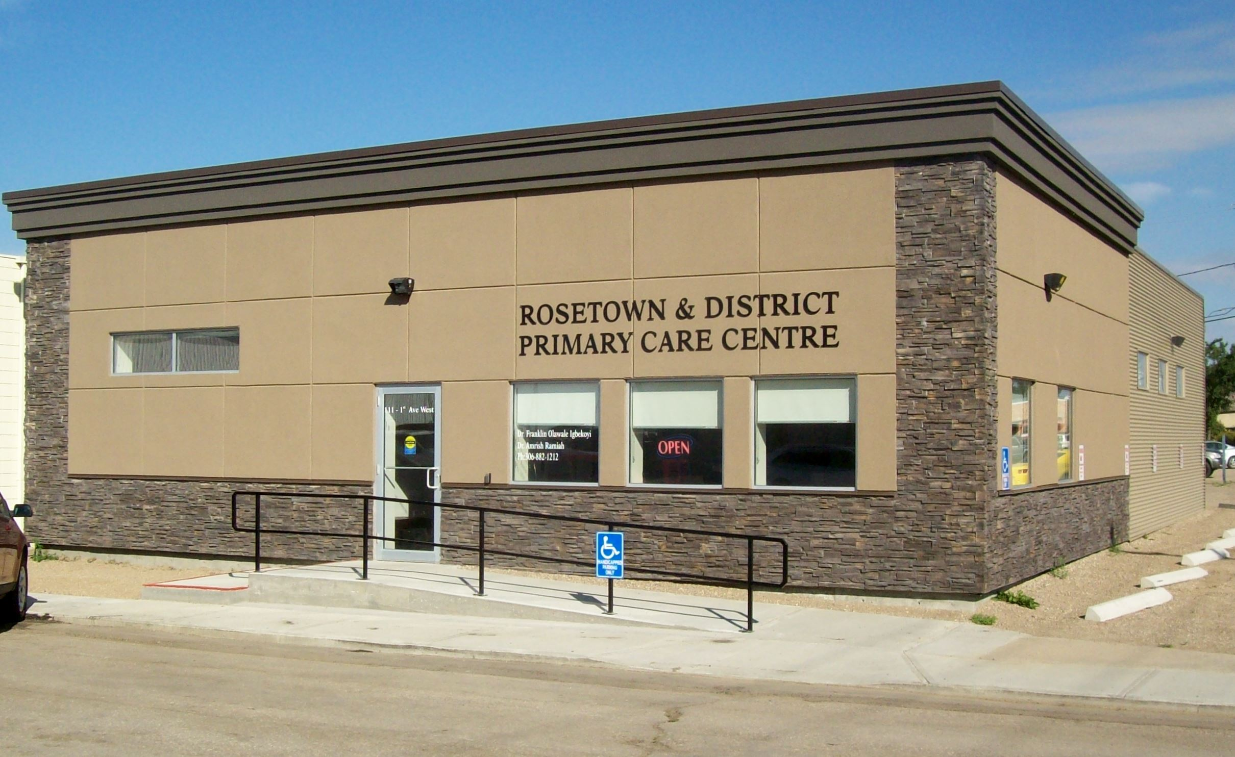 Rosetown and District Primary Health Centre entrance